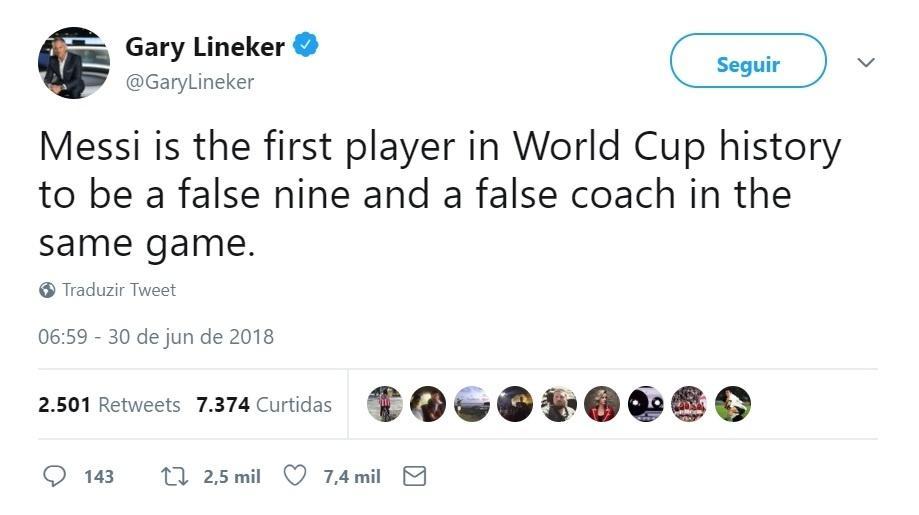 Gary Lineker brinca: