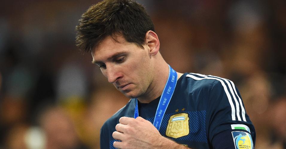 Lionel Messi medalha de prata Copa do Mundo 2014