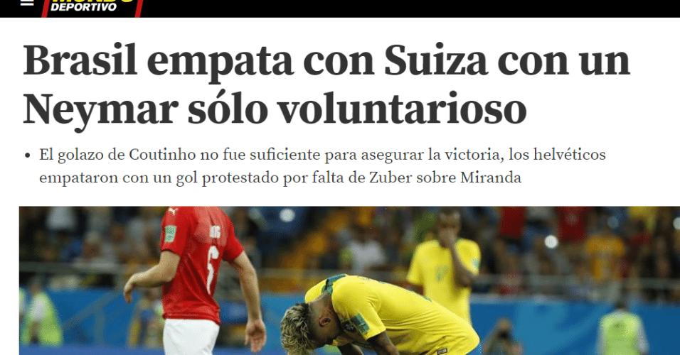 Jornal Mundo Deportivo, da Catalunha, diz que Neymar foi