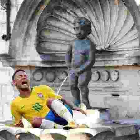 Prefeito de Bruxelas publica montagem que zomba de Neymar - Reprodução/Twitter