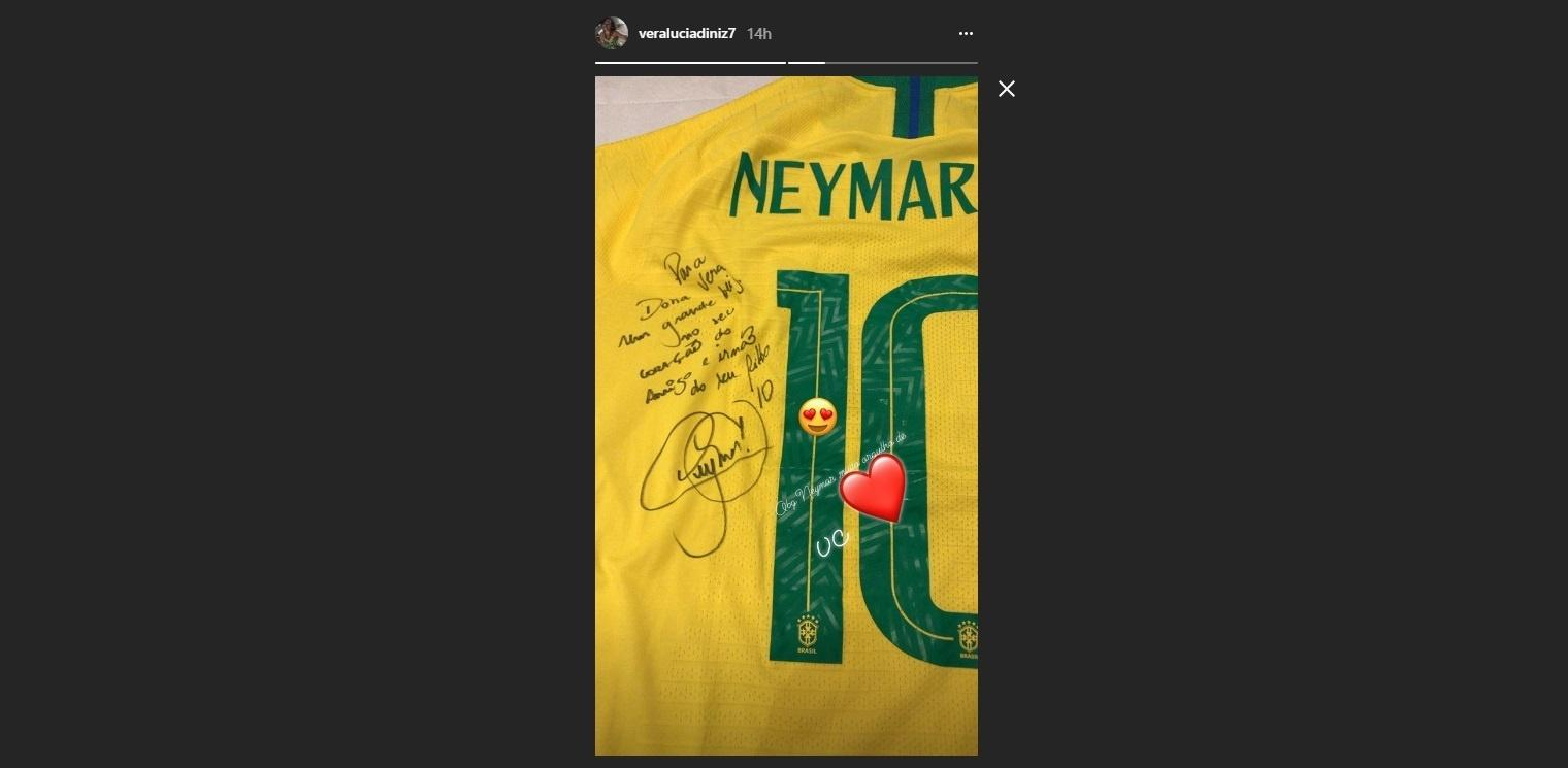 Mãe stories Gabriel Jesus Copa do Mundo camisa Neymar