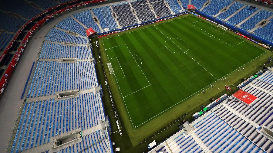 O estádio Krestovksy, na Rússia, uma das sedes da Copa do Mundo - Dean Mouhtaropoulos/Getty Images