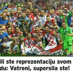 """24sata: """"Você devolveu uma república ao seu povo: Vatreni (apelido da seleção croata), você conseguiu"""" - Reprodução"""