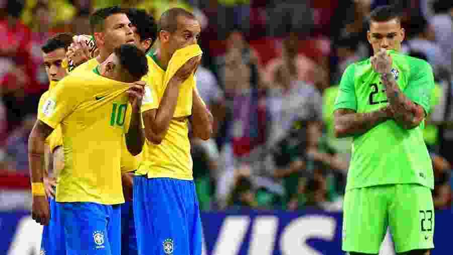 Brasil caiu ainda nas quartas de final da Copa do Mundo da Rússia - AFP PHOTO / Luis Acosta