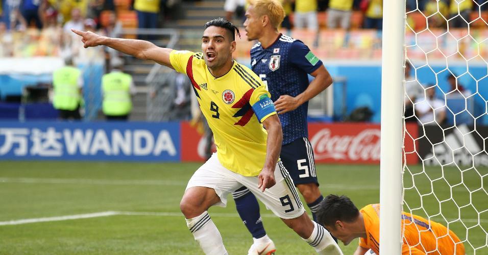 Falcao durante o jogo Colômbia x Japão