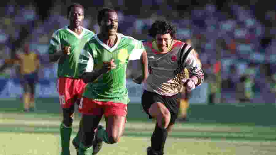 Colômbia caiu na Copa de 1990 após erro de René Higuita diante de Camarões; goleiro, porém, vê jogo como divisor de águas - AFP Photo