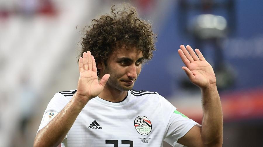 Amr Warda, jogador da seleção do Egito, pediu desculpa ao seu povo após a eliminação - Nicolas Asfouri/AFP