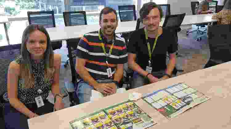 Cíntia Bernardes, Rafael Angi e Renato Romero, em missão (quase) corporativa - UOL - UOL