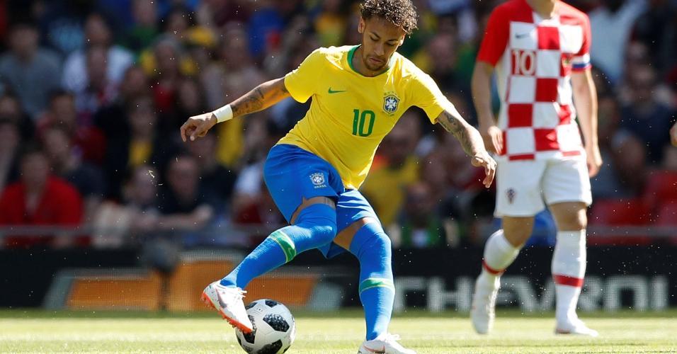 Neymar durante segundo tempo da partida Brasil x Croácia