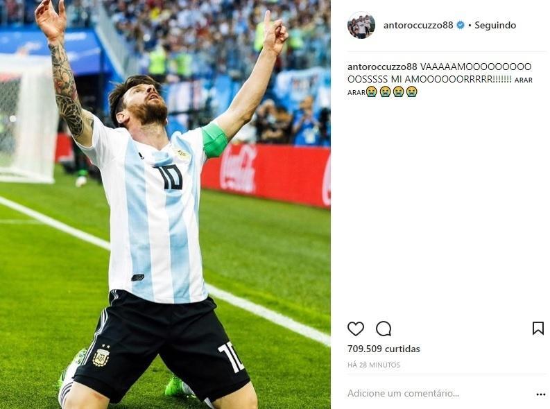 Esposa de Messi comemora classificação sofrida:
