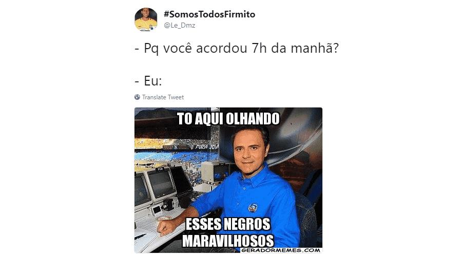 Além do jogo morno no primeiro tempo, a ausência do narrador Luís Roberto frustrou os internautas - Reprodução/Twitter