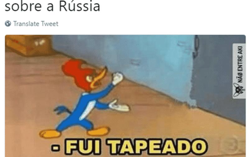 Ué, mas a Rússia não estava com tudo? A derrota por 3 a 0 para o Uruguai confundiu os internautas - Reprodução/Twitter