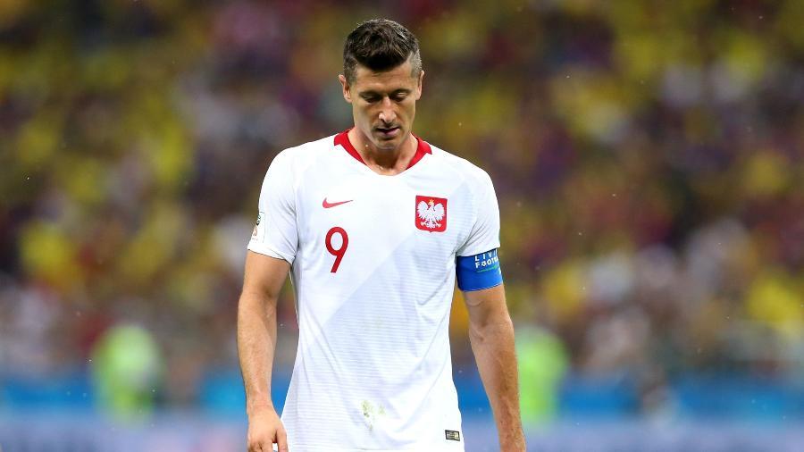 Robert Lewandowski lamenta derrota da Polônia contra a Colômbia - Alex Livesey/Getty Images
