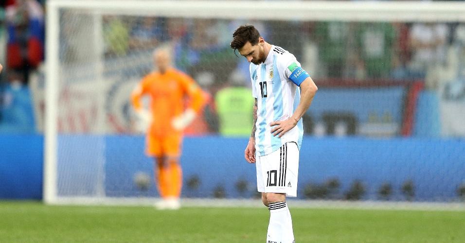Lionel Messi lamenta derrota da Argentina para a Croácia