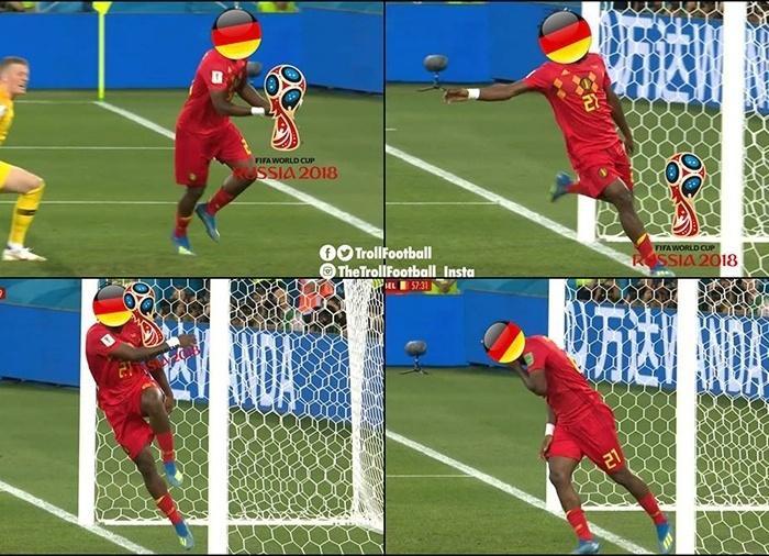 Batshuayi fez uma homenagem à Alemanha na comemoração do gol da Bélgica