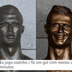 Ele começou com tudo, e parecia que Portugal iria golear - Reprodução/Twitter