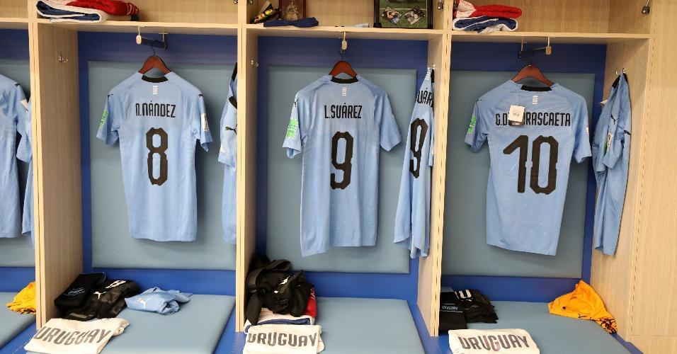 Uruguai jogará com seu uniforme principal; França jogará de uniforme branco