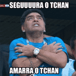 A reação de Maradona depois do primeiro gol de Messi na Copa foi um meme instantâneo - Reprodução/Twitter