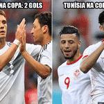A Tunísia venceu o Panamá por 2 a 1 na despedida da Copa e ultrapassou a Alemanha em número de gols marcados - Reprodução/Twitter