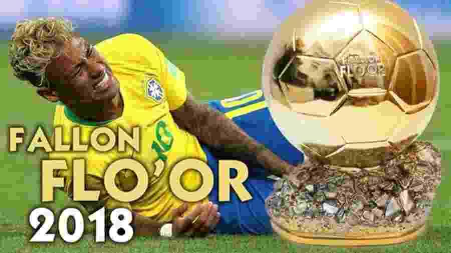 Meme Neymar Fallon Floor - Reprodução/Facebook