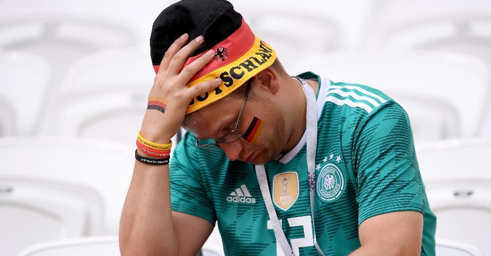 Torcedor da Alemanha não se conforma com eliminação precoce na Copa