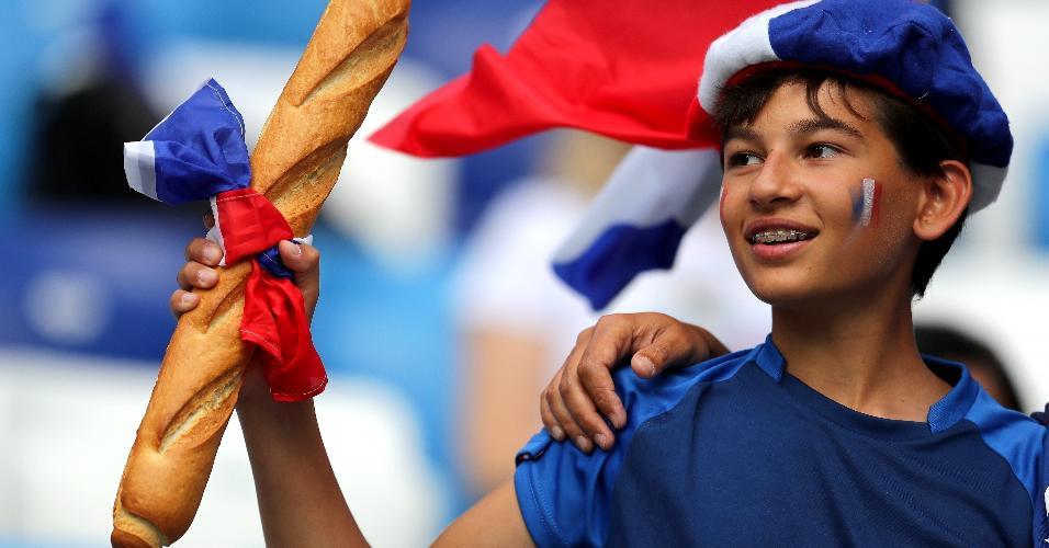 Torcida francesa prestigia sua seleção para partida contra o Uruguai, em Nizhny Novgorod