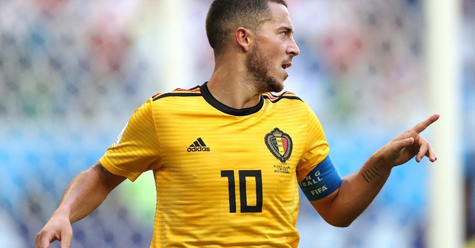 Em contragolpe rápido, Bélgica chegou ao segundo gol em chute de Eden Hazard