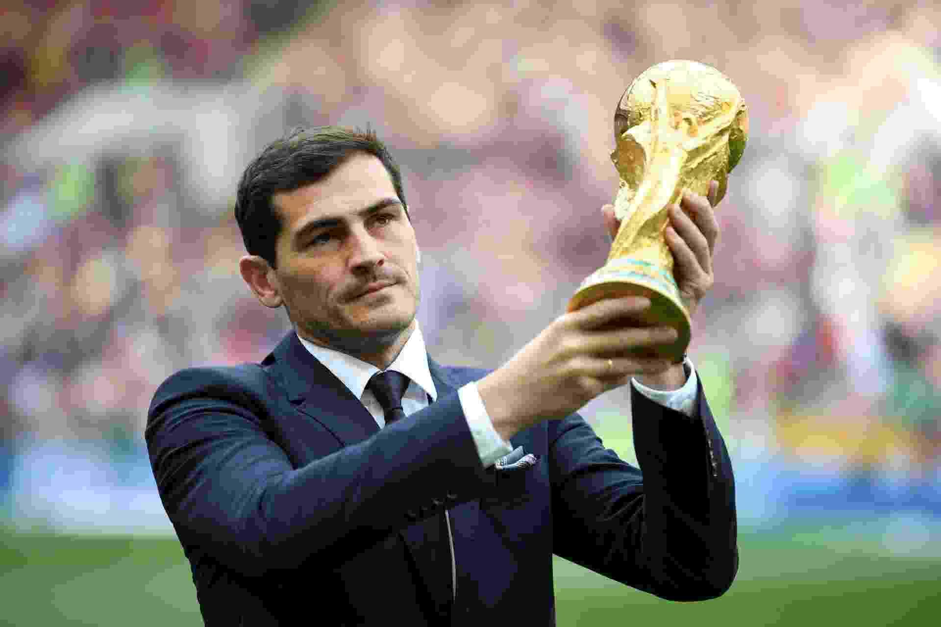 Campeão com a Espanha no Mundial de 2010, Iker Casillas participa de cerimônia de abertura da Copa do Mundo - Michael Regan - FIFA/FIFA via Getty Images