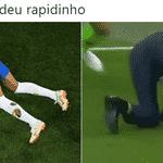 De tanto ver Neymar cair, Tite quis imitar - Reprodução/Twitter