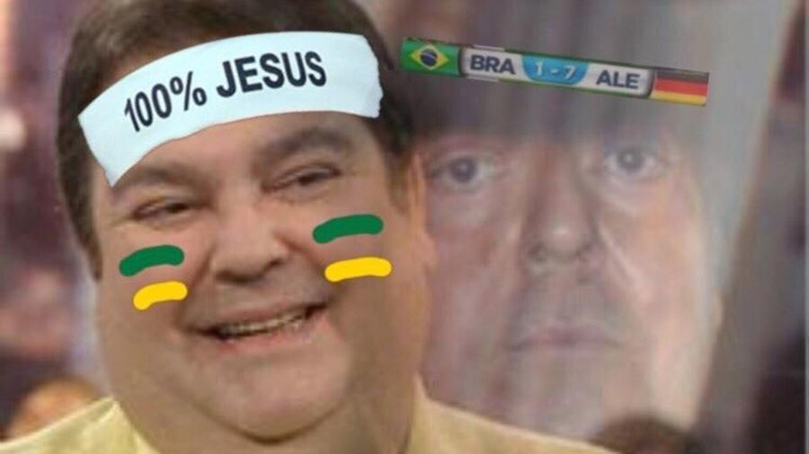 Depois da vitória da Alemanha sobre a Suécia, as chances de pegar o Brasil nas oitavas aumentaram, e esta imagem do Faustão inundou a timeline
