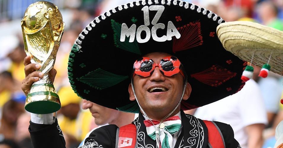 Torcedor do México prestigia sua seleção contra o Brasil na Arena Samara