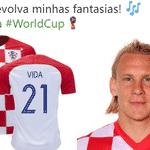O croata Domagoj Vida foi um dos mais zoados - Reprodução/Twitter
