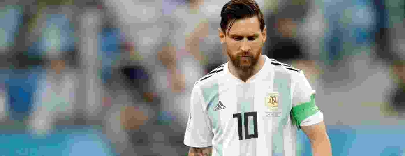 Lionel Messi fica cabisbaixo após Argentina sofrer gol - Henry Romero/Reuters
