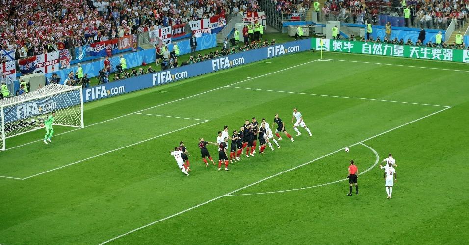 Inglaterra abre o placar contra a Croácia durantes os primeiros minutos de jogo
