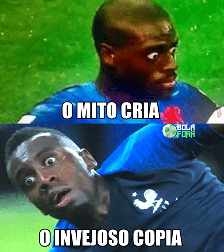 A pose de Matuidi foi comparada à do holandês Bruno Martins Indi que virou meme na Copa de 2014