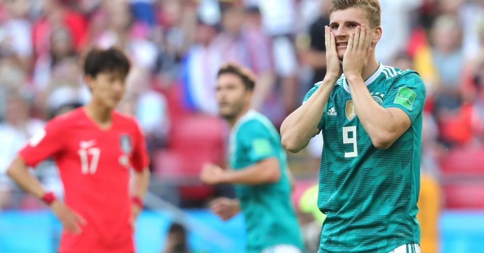Timo Werner lamenta chance perdida da Alemanha