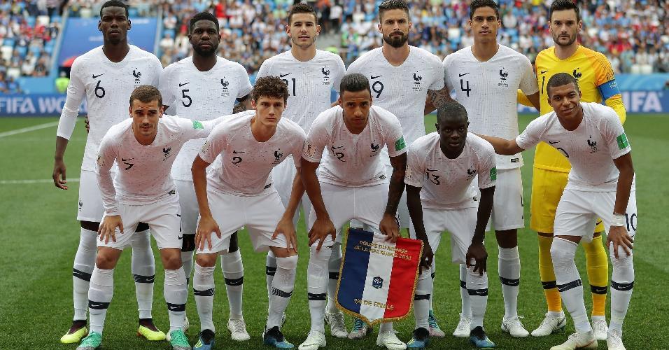 Seleção da França para o jogo contra o Uruguai