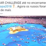 """Será que o """"Desafio do Neymar"""" chegou até a cerimônia de encerramento da Copa? - Reprodução/Twitter"""
