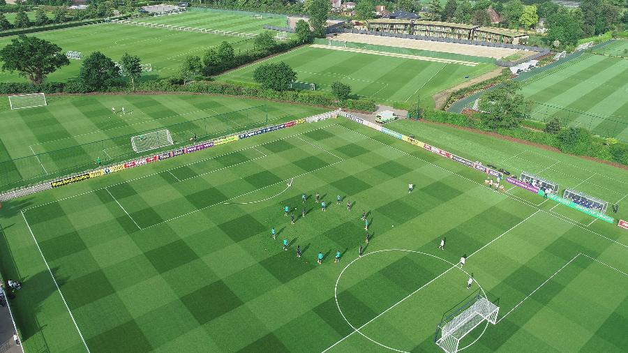 Vista geral do Centro de Treinamento do Tottenham, palco dos treinos da seleção brasileira em Londres - Lucas Figueiredo/CBF