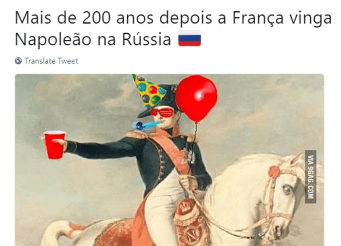Finalmente, a França conseguiu ganhar alguma coisa em solo russo