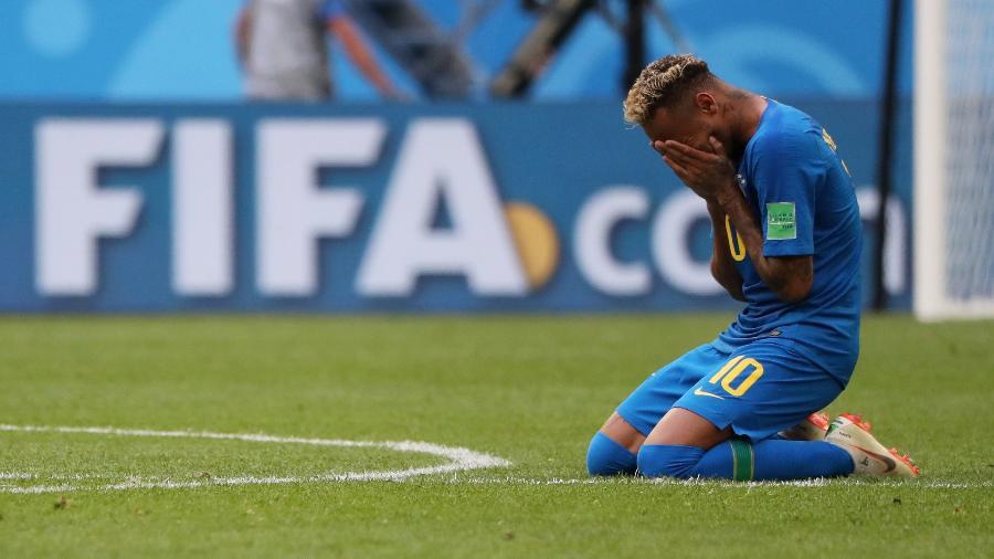 Neymar após a vitória do Brasil; camisa 10 marcou só uma vez na Copa até agora - Reuters
