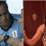 O segundo gol do Uruguai nasceu de um chute de Laxalt, com seu visual inspirado na Monica do Friends - Reprodução/Twitter