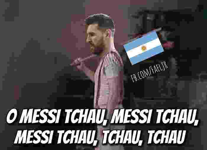 A torcida brasileira já tinha feito até uma música para a despedida do Messi da Copa - Reprodução/Twitter