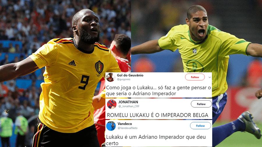 O belga Romelu Lukaku teve uma grande atuação contra a Tunísia e liderou os Trending Topics, com muitas comparações a Adriano Imperador - Reprodução/Twitter