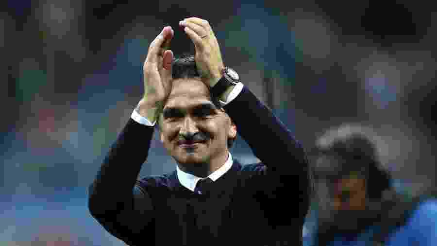 O técnico Zlatko Dalic comemora vitória da Croácia contra a Argentina - Clive Brunskill/Getty Images