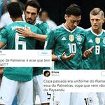 Após Flamengo e Palmeiras, qual será o próximo time brasileiro homenageado pela Alemanha? - Reprodução/Twitter