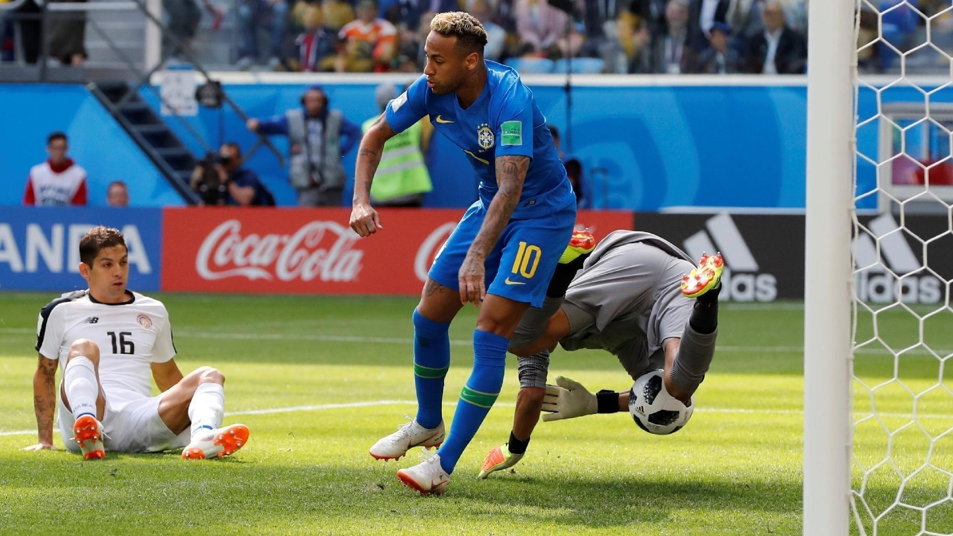 Em disputa com Neymar, Keylor Navas fez grandes defesas no segundo tempo