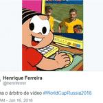 O árbitro de vídeo foi protagonista e definiu a marcação de um pênalti a favor da França - Reprodução/Twitter