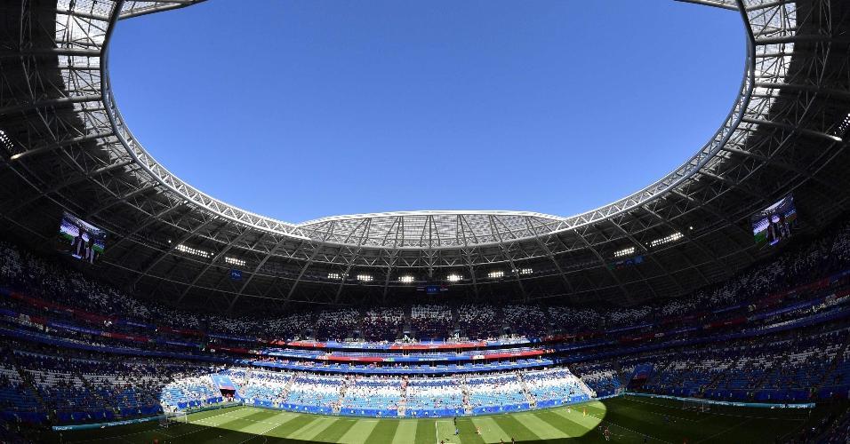 Arena em Samara, palco do duelo entre Costa Rica x Sérvia