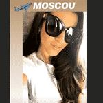 Natalia Becker, mulher de Alisson, postou foto da viagem para Moscou - Reprodução/Instagram